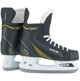 Get ready to take your game to the next level with the speed and comfort of the CCM® 1052 Ice Hockey Skates. Great for the beginner or intermediate level skater, these CCM® skates come with a low profile injected outsole that maximizes energy transfer to help with your explosive stride. With a CCM® one piece holder and blade, the 1052 skates are built to last while a brushed nylon liner adds comfort with every shift.