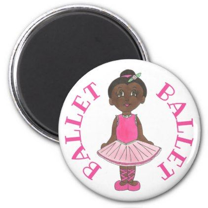 Little Girl Ballet Dancer Ballerina Pink Rose Tutu Magnet - rose style gifts diy customize special roses flowers