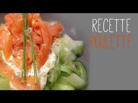 Tagliatelles de concombre au saumon fumé - Recette de cuisine Marmiton : une recette