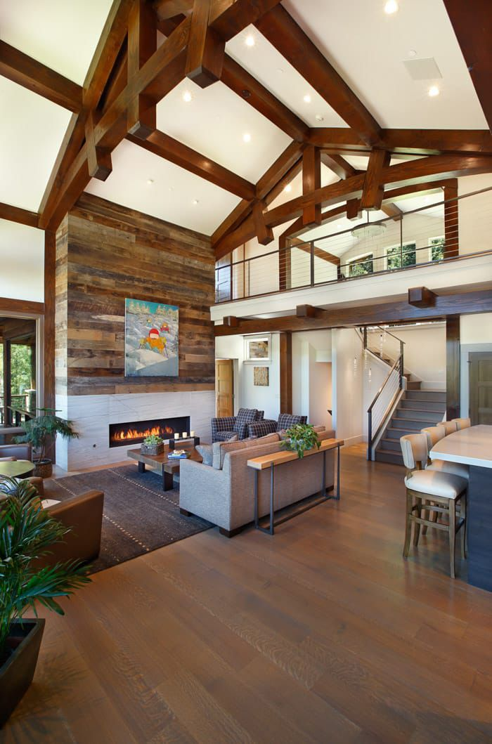 Beautiful Woodhouse Timber Frame Interior Built By Summit Custom
