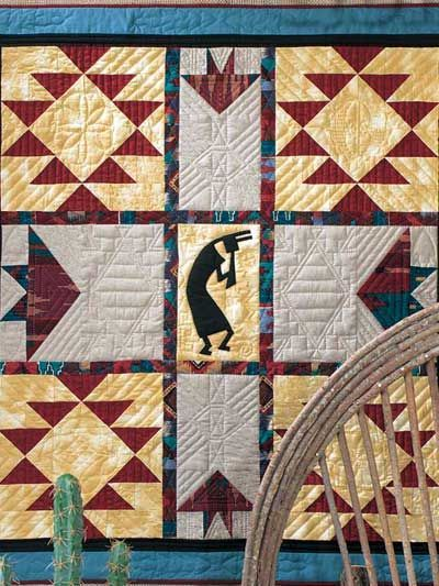 Quilting - Wall Quilts - The Flute Player Wall Quilt Pattern