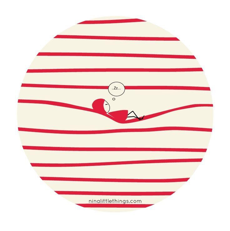 #redstripes #illustration #relax #ninanadotherlittlethings