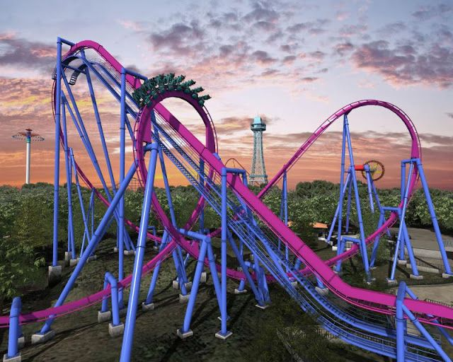 New Banshee Roller Coaster at Kings Island Amusement Park | Balcan Expres