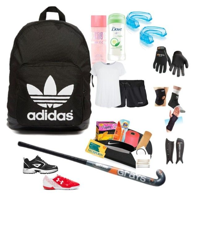 """What's in my field hockey bag"" by kcampbell1115 ❤ liked on Polyvore featuring adidas Originals, Dove, Shock Doctor, Patagonia, MICHAEL Michael Kors, Playtex, Barlow, injury, 3N2 and Under Armour"