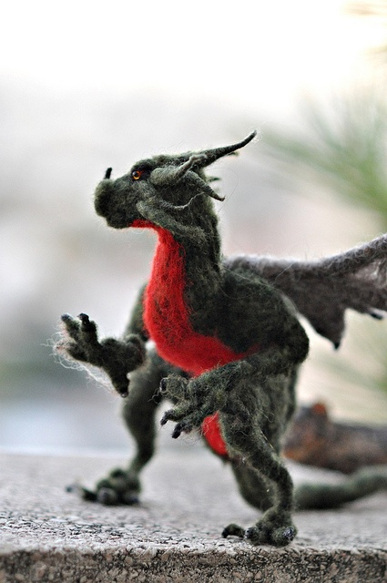 """Kate's Dragon"" felted by Daria.Ivovsky  See much great stuff here on her flickr stream"