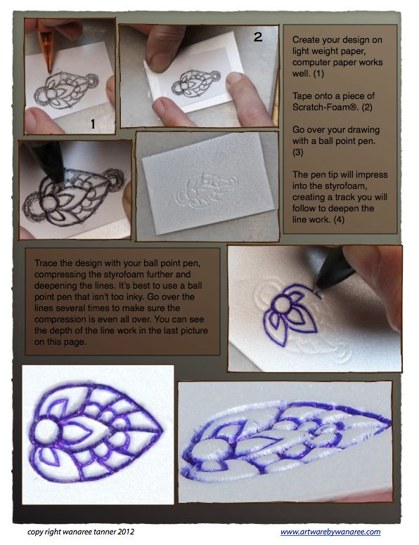 Using Styrofoam To Texture Metal Clay (4PAM_7)
