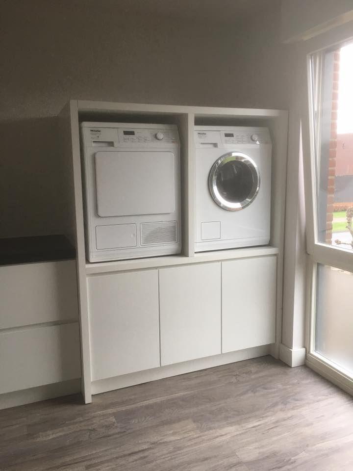 Wasmachine Droger Ombouw Washok Kast Wasmachine Washok