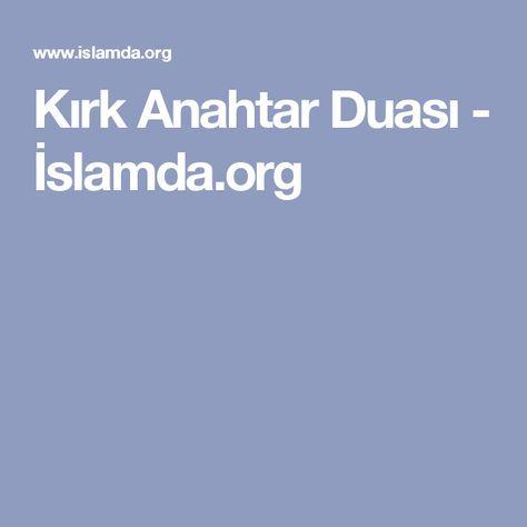 Kırk Anahtar Duası - İslamda.org