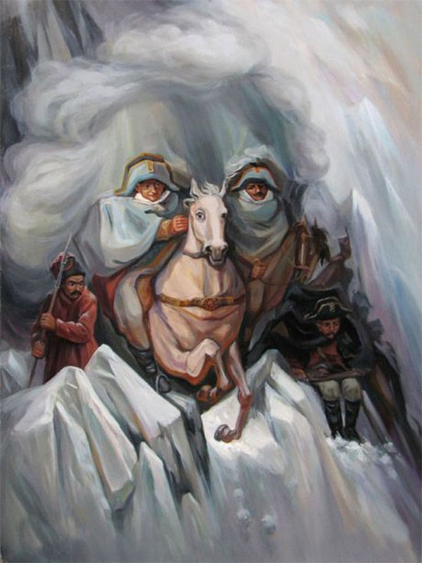 Surreal Optical Illusion Paintings by Oleg Shuplyak