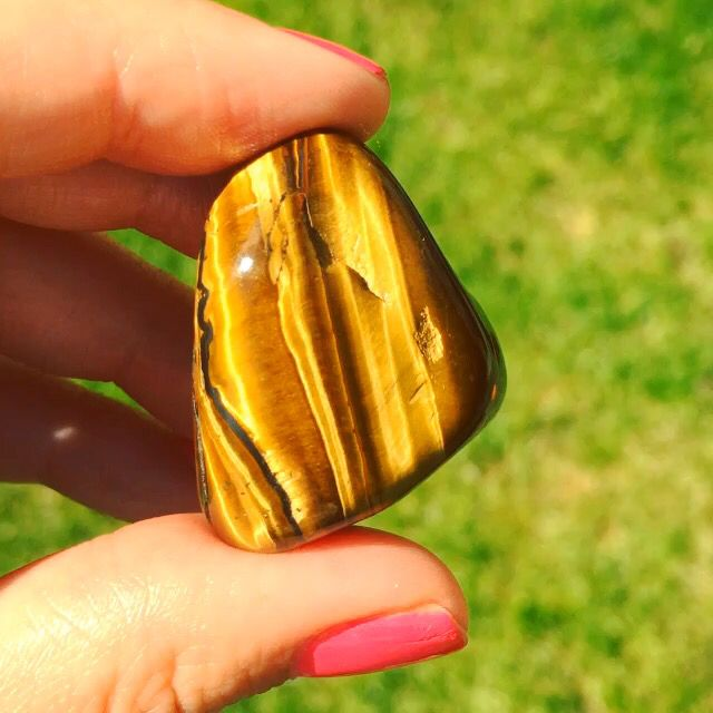 Gold Tigers Eye  Good attracts Gold
