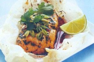 Lime and sweet chilli fish parcels  http://www.taste.com.au/recipes/8153/lime+and+sweet+chilli+fish+parcels