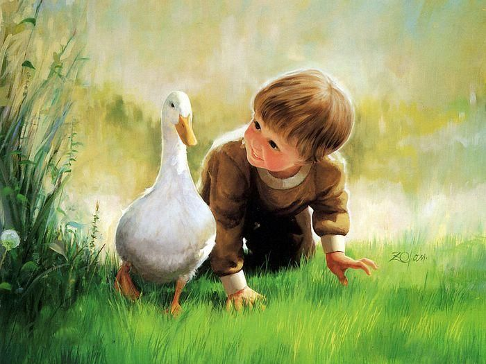 oil paintings of childhood by donald zolan - Painting For Childrens