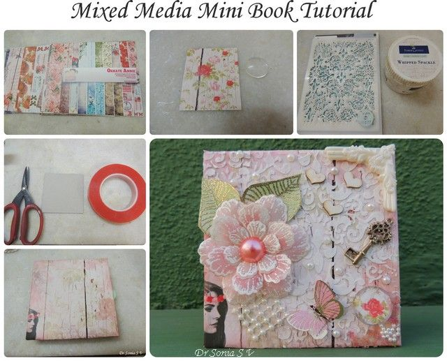 Book Cover Craft Cover : Cards crafts kids projects mixed media mini book cover