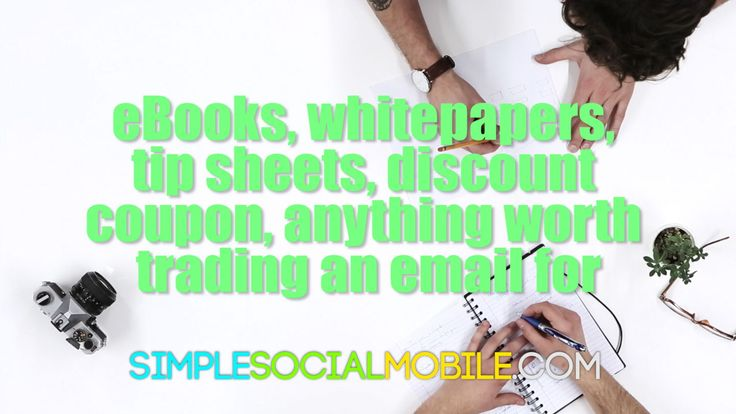 eBooks, whitepapers, tip sheets, coupons etc are things you can give for an email.