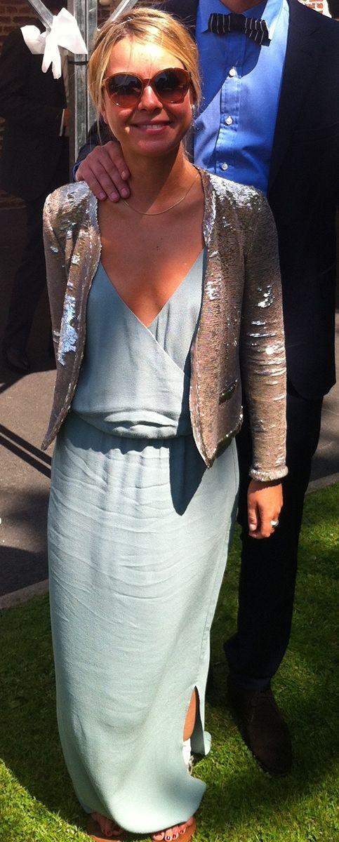 Robe longue gris bleuté American Vintage à emprunter