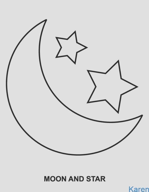 Auch Der Kidspattern Lachelt Mond Stern Und Stern Und Mond Der Auch Lachelt Elizabeth Holbrook Star Stern Schablone Ausmalbild Stern Sternenvorlage