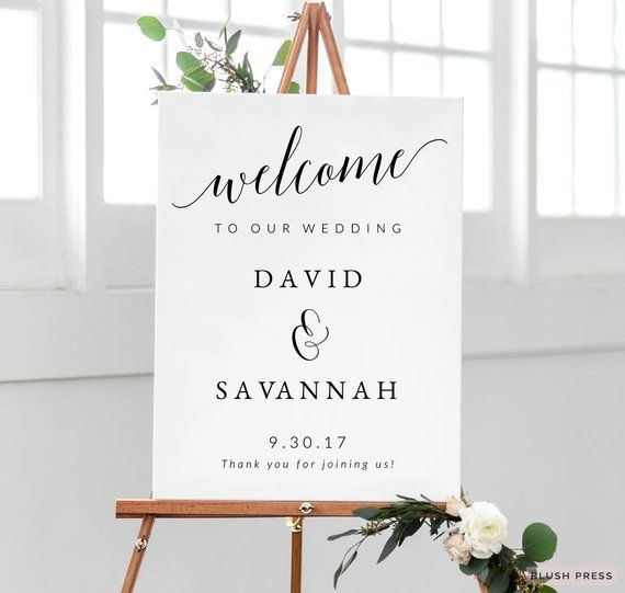 Welcome To Our Wedding Sign Template Printable Wedding Ceremony