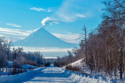 """Вулкан """"Ключевская Сопка"""", Камчатка   Klutchevskaya Sopka volcano, Kamchatka © photo by Denis Budkov http://ratbud.35photo.ru/"""