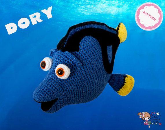 PATROON Gehaakte Disney Pixar Finding Dory door CaitsCrochetedDolls
