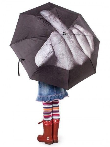 "I dont want it, I just like the idea ... ""Fuck The Rain"" Umbrella (Black)"