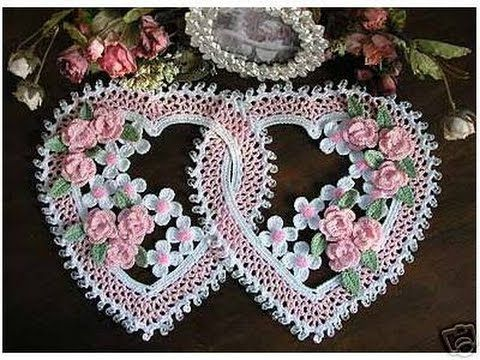 Crochet| heart doily| Free |simplicity patterns| 36