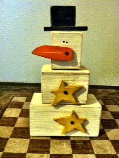 Try This Free Snowman Blocks Craft To Use Up Some Wood Scraps Find And