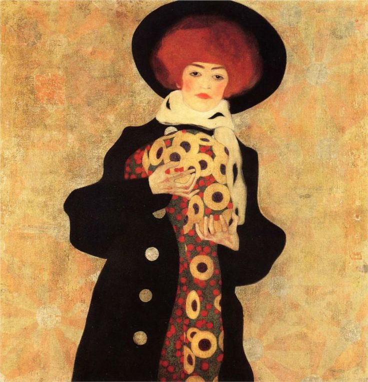 Woman with Black Hat - Egon Schiele (1909)