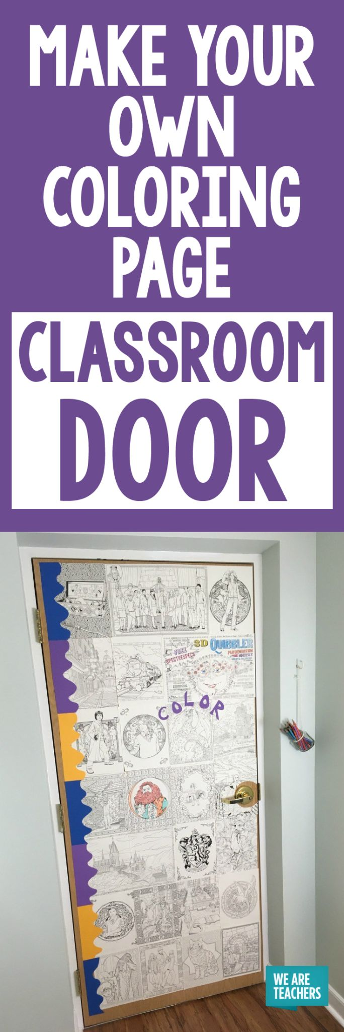 Door decorations for spanish class - Make Your Own Coloring Page Classroom Door
