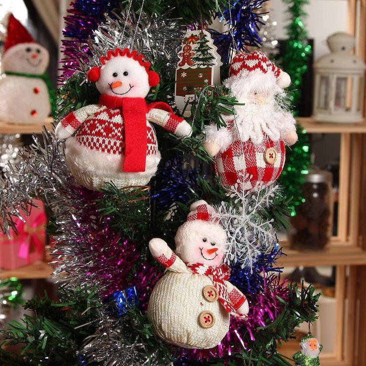 2.015 NEW Vianočné dekorácie a záhradu 3ks / veľa Indoor Závesné ozdoby pančuchy Santa Claus snehuliak ozdoby na vianočný stromček-do vianočnej výzdoby dodávok z Dom a záhrada na Aliexpress.com | Alibaba Group