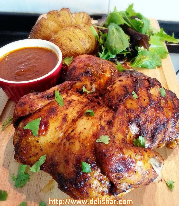 DELISHAR: Peri Peri Chicken (Nando's inspired). *****Caution: I suspect this recipe to be addictive and it may very well give you the best Cluck for your Buck - Brandon ;)))