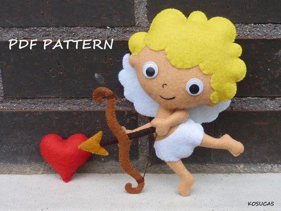 Patrón PDF para hacer un fieltro Cupido.