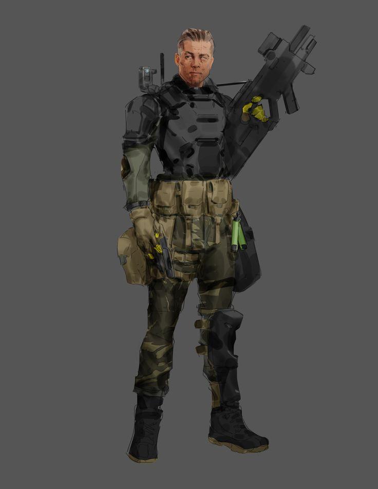 ArtStation - Aliens Colonial Marines : Team Leader, Tyler Bartley