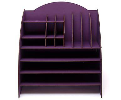 Органайзер на стол - МДФ - фиолетовый, 35,5х32х34 см