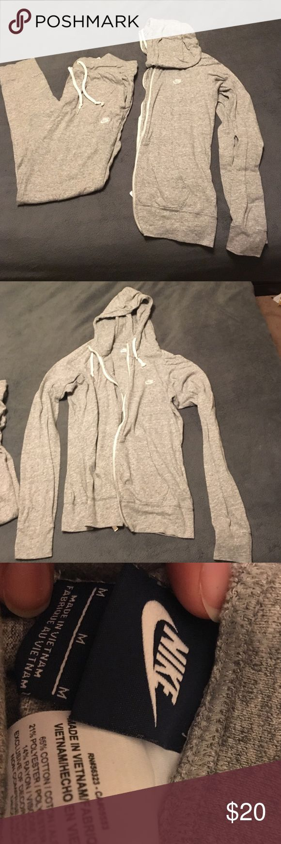 NIKE sweat suit! Super cute Nike sweat suit I can no longer fit anymore! Pants are skinny styled and top is just regular zip up jacket. Size M. Great condition. Nike Other