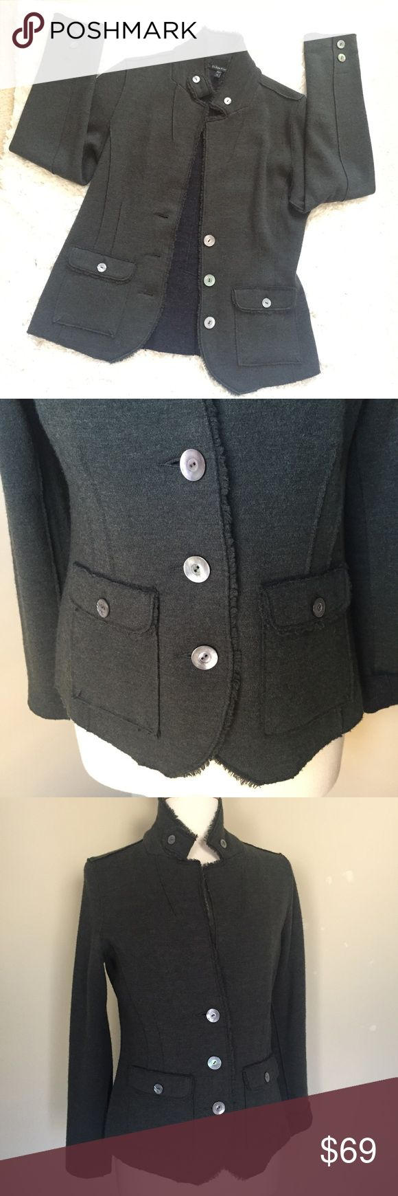 Eileen Fisher Wool Hunter Green Military Jacket Condition: never worn - new without tags; No pilling, rips, stains or holes; Pet and Smoke Free Home!! Please see ALL pictures for details and measurements. Eileen Fisher Jackets & Coats