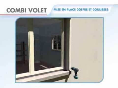 volet roulant - à manœuvre sangle - avec pose en applique - combi volet - sur mesure. http://www.cotevolet.fr/166-promotions