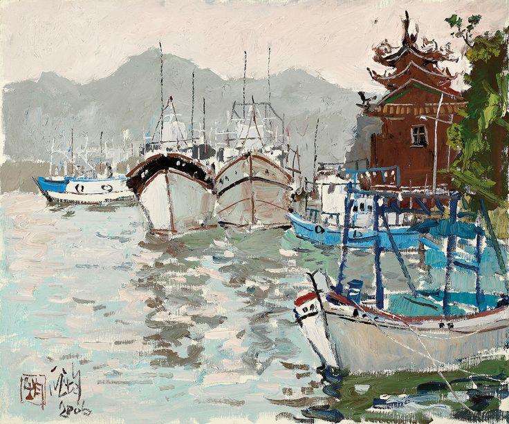 PANG Jiun, Fishing Harbour @ Ravenel Spring Auction 2016 Taipei, Lot 306