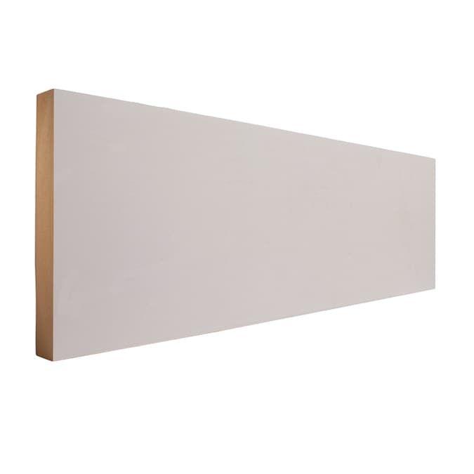 Evertrue 11 16 In X 5 1 2 In X 8 Ft Primed Mdf Baseboard Moulding Lowes Com Moldings And Trim Baseboards Baseboard Moulding