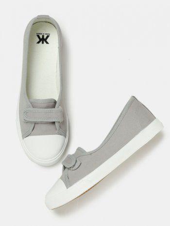 a6d1322782a9 Buy Kook N Keech Women Grey Slip-On Sneakers | Best casual shoes for women