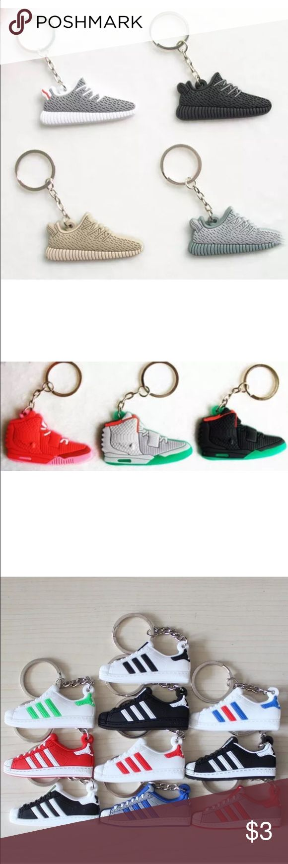Keychains Nike, Adidas and Kanye West Yeesy If You are interested please let me know I'm taking order's right know just for the lowest price of $3 each  Shoes Sneakers