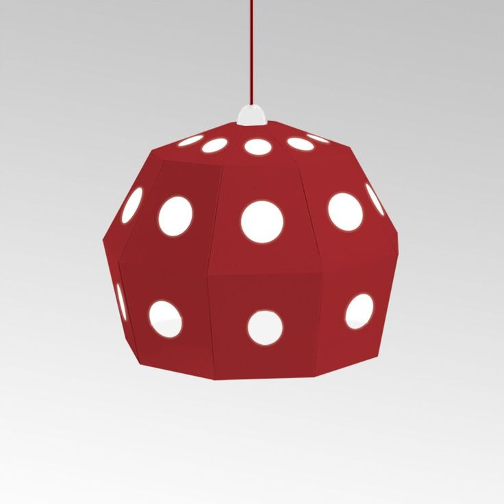 Red cardboard lamp. From UNO collection.