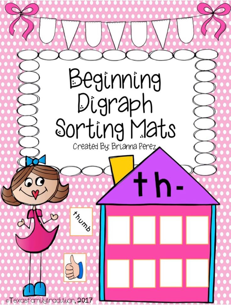 To use this resource, cut out and laminate the beginning digraph sorting mats and sorting cards. Place them in a center. Students will sort the words and pictures according to if they belong in that beginning digraph house or not. You can choose to use just the picture cards, word cards, or both if you want.