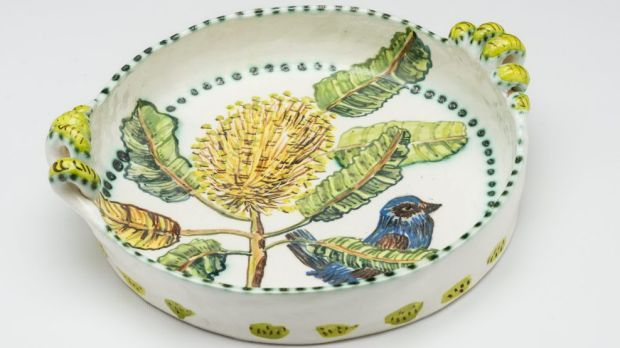 Fiona Hiscock's exuberant, decorative designs featuring Australian plants and wildlife sit well on her colonial-inspired ceramic vessels, writes Kerry-Anne Cousins.