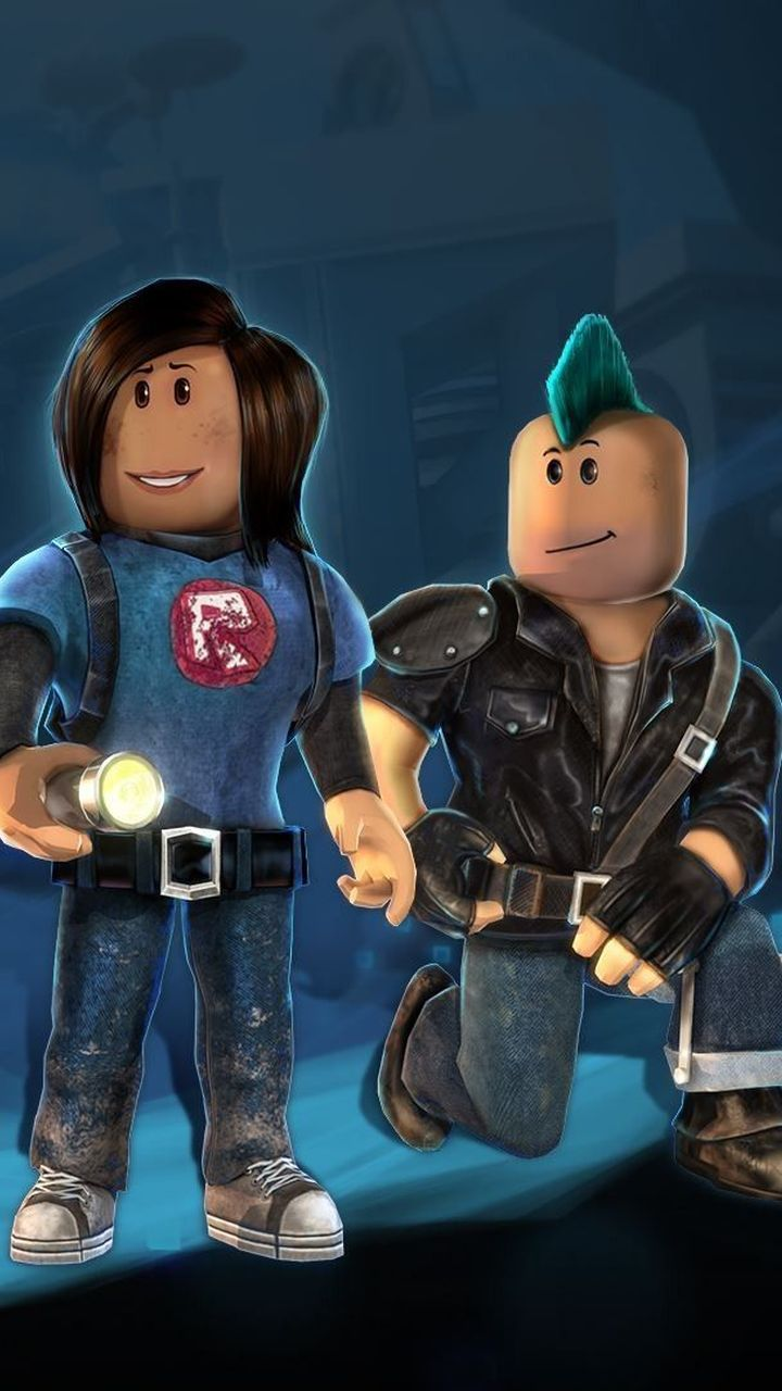 Miner And Punk Roblox Characters Roblox Cartoon Wallpaper Hd Cartoon Wallpaper