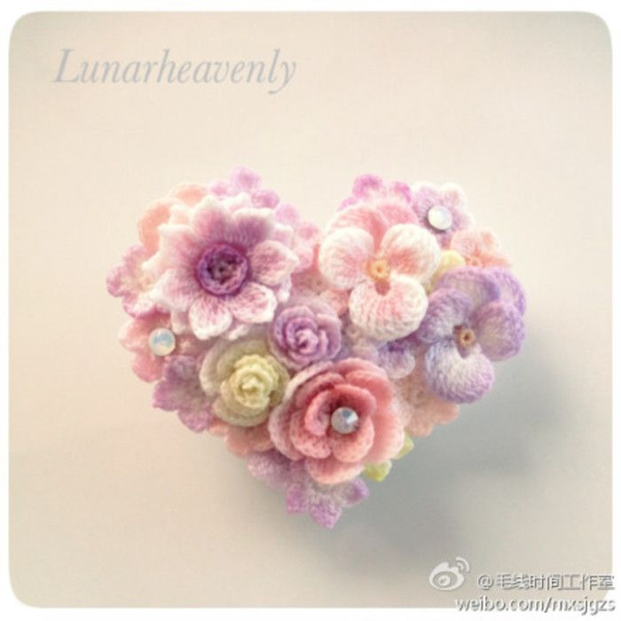 #钩针 饰品 欣赏# 日本手作达人lunarheavenly设计制作的一系列蕾丝花朵首饰,是不是很雅致呢