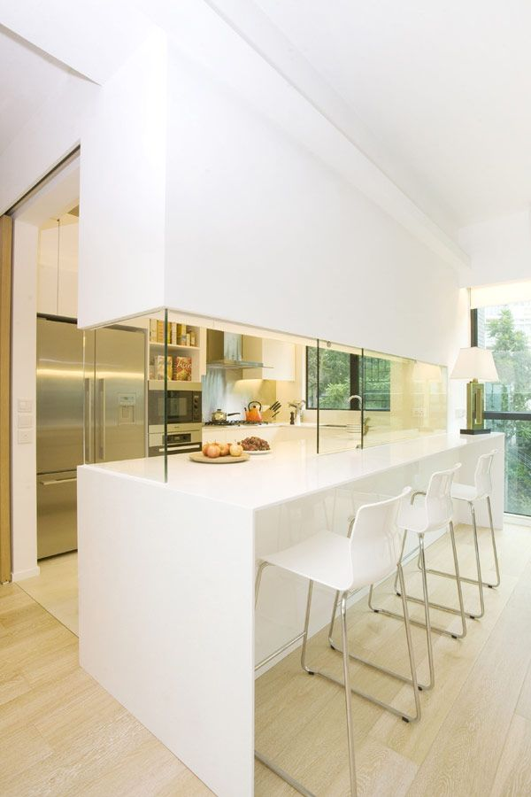 Hong Kong Apartment, designed by Clifton Leung - a compromise for those who were hoping to have an open kitchen