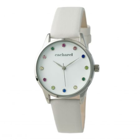 Reloj de señora Cacharel, blanco.
