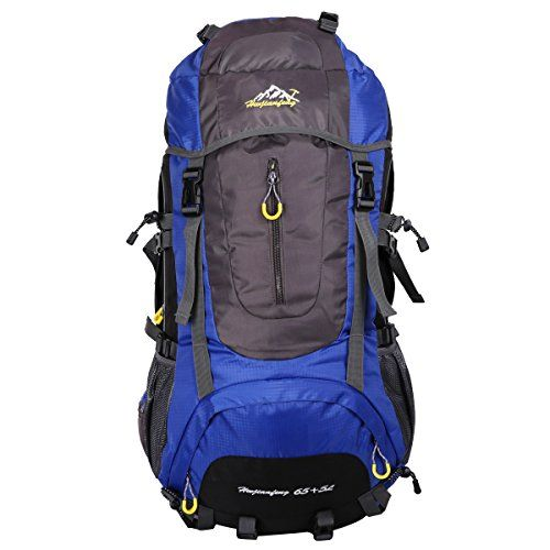 HWJIANFENG 65 5L Internal Frame Backpack Hiking Backpacking Packs for Outdoor Hiking Travel Climbing Camping Mountaineering Lightweight with a Rain Cover