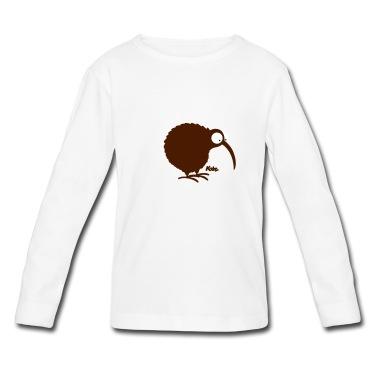 Seltsamer Vogel, dafür umso putziger :), Kiwi, kleinster Laufvogel legt das größte Ei, Wappentier von Neuseeland, kurios, flugunfähig, nachtaktiv - kurzum, hab mich in das kleine Tierchen verliebt - designed by kate (www.katelein.com)  T-Shirts, moosgrün