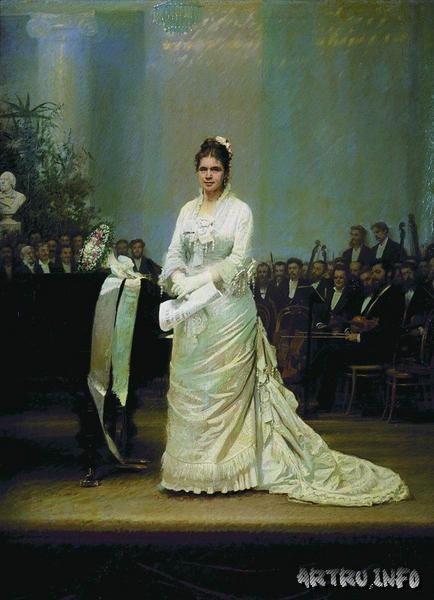 Портрет певицы Е.А.Лавровской